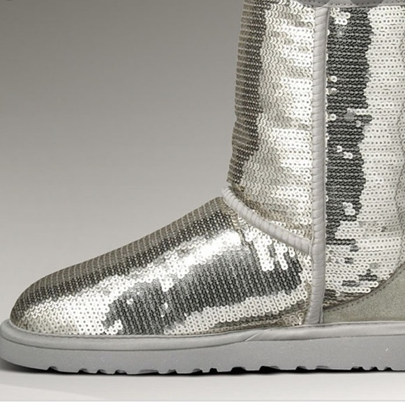 UGG Shoes | Silver Sequin S | Poshmark